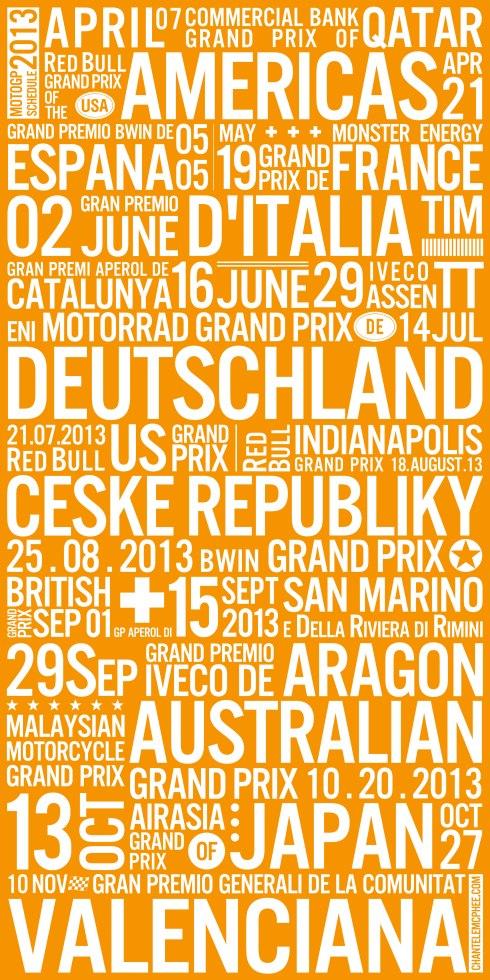2013-MOTOGP-Schedule-18X36-w